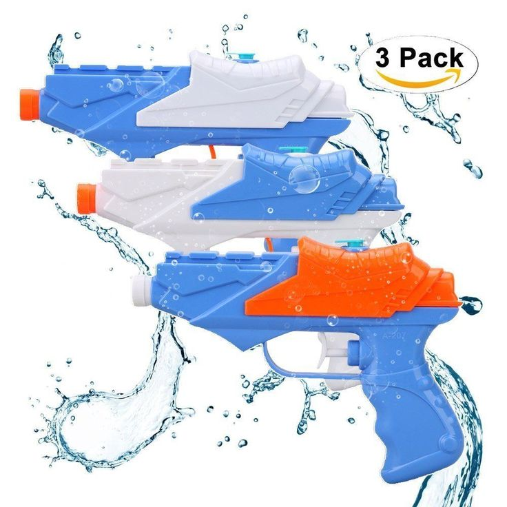 Kids Water Guns,Soni 3 pack Water Squirt Gun for Water Fight Great Summer Water  #SONi