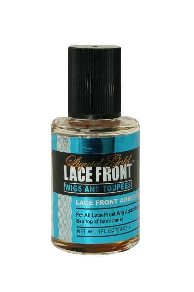 Liquid Gold Lace Front Adhesive is ideal for lace front wigs and toupees. This Adhesive will dry clear with a strong bond, it is safe to use and easy to remove.