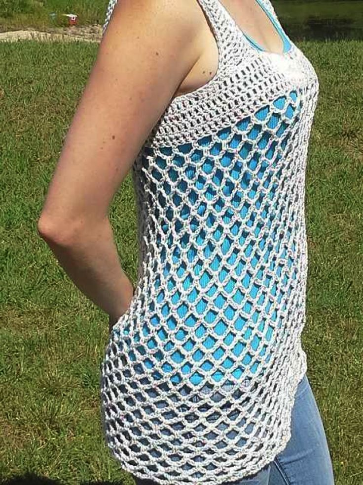 Quick Crochet Projects.  Could make this longer and use as a swim suit cover-up.