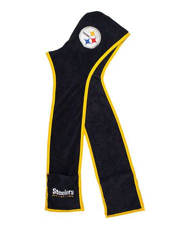 This Pittsburgh Steelers Fleece Hoodie Scarf is perfect! #zulilyfinds