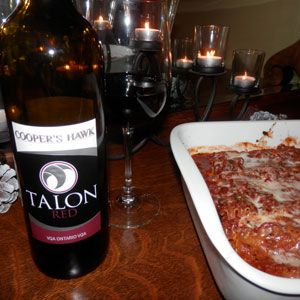 January 5, 2014 - Cooper's Hawk Vineyards 2012 Talon with Healthier Meat Lasagna! Happy New Year! - See more at: http://www.essexcountywineries.ca/wines/2014/20140105.htm#sthash.9ESAgn2E.dpuf