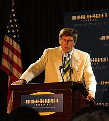 Stephen Moore (writer) - Wikipedia - speaking at Americans for Prosperity Foundation event in 2008