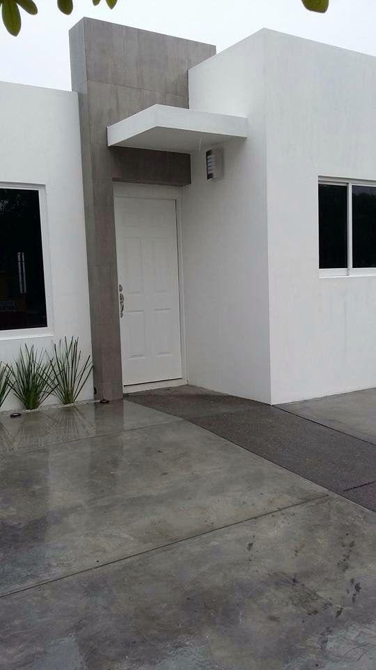 Fachada casa infonavit fachadas de casa pinterest for Decoracion casas chicas