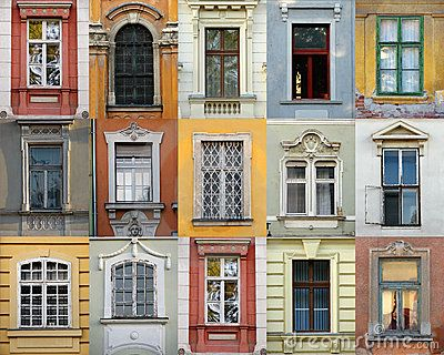 Windows of Szekesfehervar