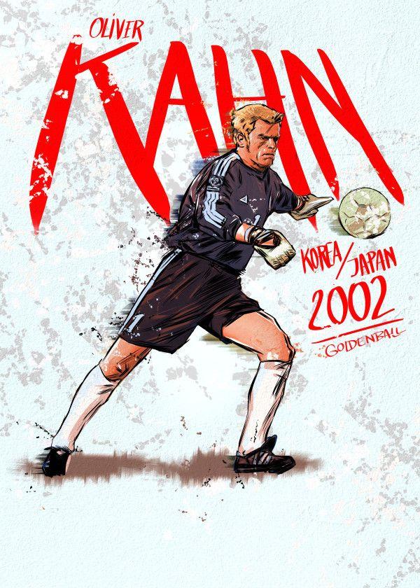 Fifa World Cup Golden Ball Winners 2002 Oliver Kahn Displate Artwork By Artist Mr Jackpots Part Of A Set Featuri Soccer Artwork Poster Prints Print Artist