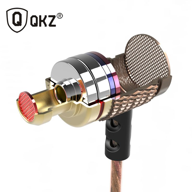 QKZ DM6 Earphone Metal Earphone Ear Headset fone de ouvido auriculares Special Edition The Phone Headset Wire Headset Music