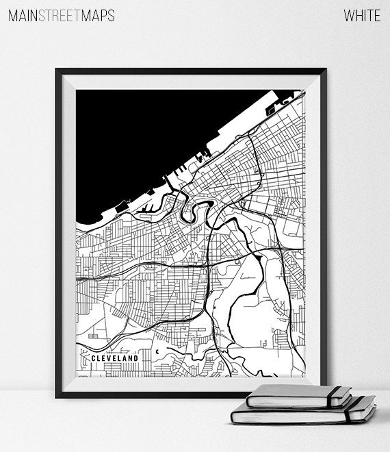 Cleveland Map Print Cleveland Poster of Ohio Map by MainStreetMaps https://www.etsy.com/listing/226627944/cleveland-map-print-cleveland-poster-of?ref=shop_home_active_4