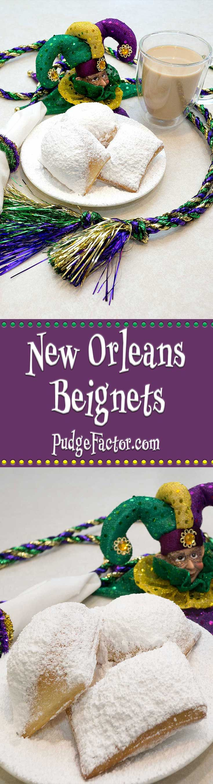 Beignets are a fried yeasted dough sprinkled with confectioner's sugar. They are traditionally eaten fresh & hot. via @c2king