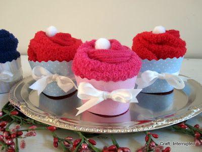 Craft, Interrupted: Sock Cupcake Teacher Valentine & Printable Tag