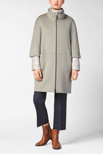 Doppio capo, cappotto in lana e giaccone in nylon