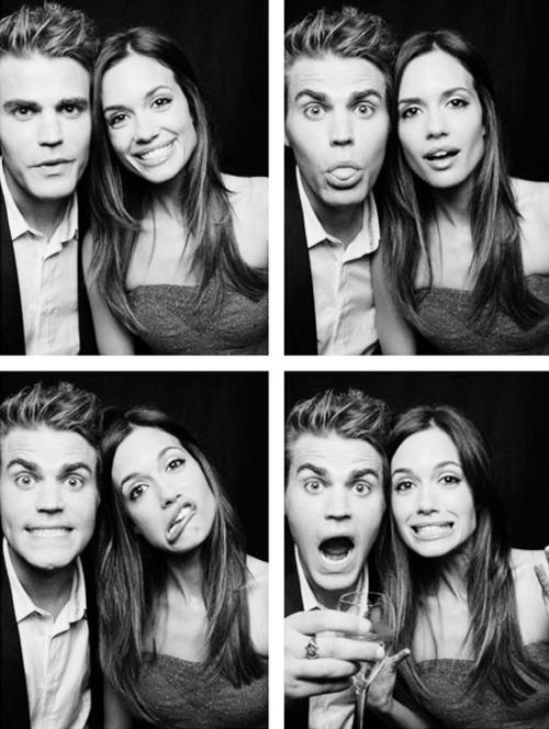Paul Wesley and Torrey DeVitto...even though I hate it...I love it