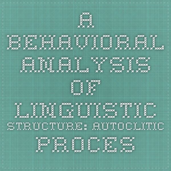 11 best ABA Autoclitics images on Pinterest Aba, Applied - behavior analysis samples
