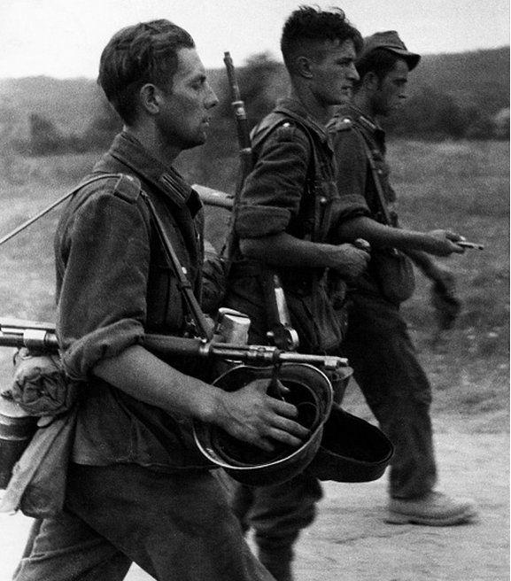 """kruegerwaffen: """" German soldiers on the country road. July/August 1942 """""""