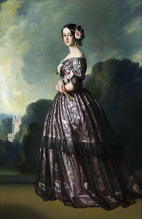 Франсуаза-Каролина де Бурбон-Браганса, принцесса Жуанвиль. Франц Ксавьер Винтерхальтер. Описание картины, скачать репродукцию.