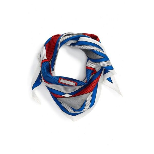 Women's Echo Dozen Silk Scarf (€37) ❤ liked on Polyvore featuring accessories, scarves, nautical blue, tying silk scarves, blue silk scarves, striped shawl, silk shawl and pure silk scarves
