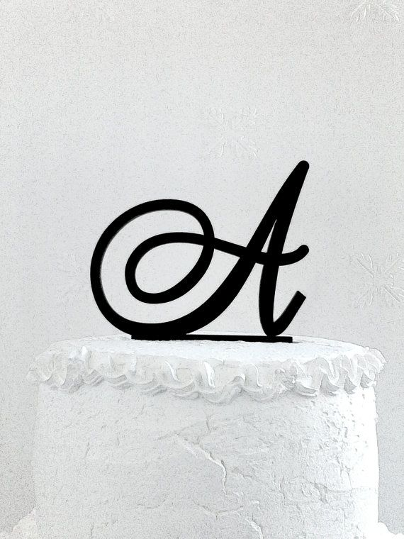 Initial Cake Topper Personalized Topper от CakeTopperDesign