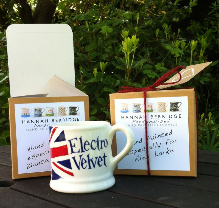 The BBC commissioned me to painted 2 Mugs for 'Electro Velvet'  (Alex Larke and Bianca Nicholas) for Eurovision 2015 www.hannahberridge.com