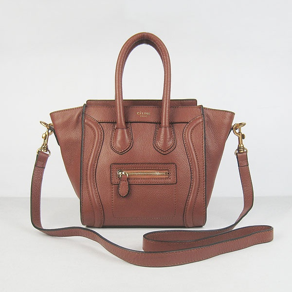 Celine Boston Bag - Brown Leather with long strap | My Style ...