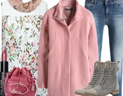 ♥ Wunderschönes Frühlingsoutfit mit Mantel in Rosa ♥ #ootd #mantel #rosa #pastell #jeans #springlook