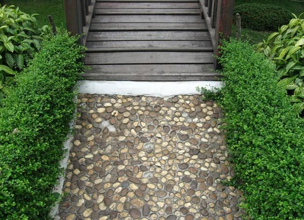 25 unique backyard landscaping ideas and garden path - How to lay pebbles in garden ...