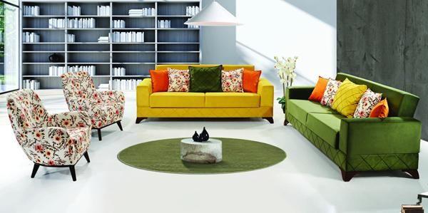 2 neon color living room decor