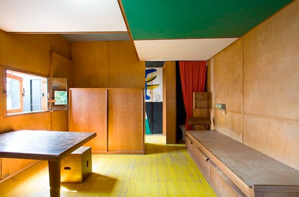 Le cabanon du Corbusier, furniture now in collection with Cassina.