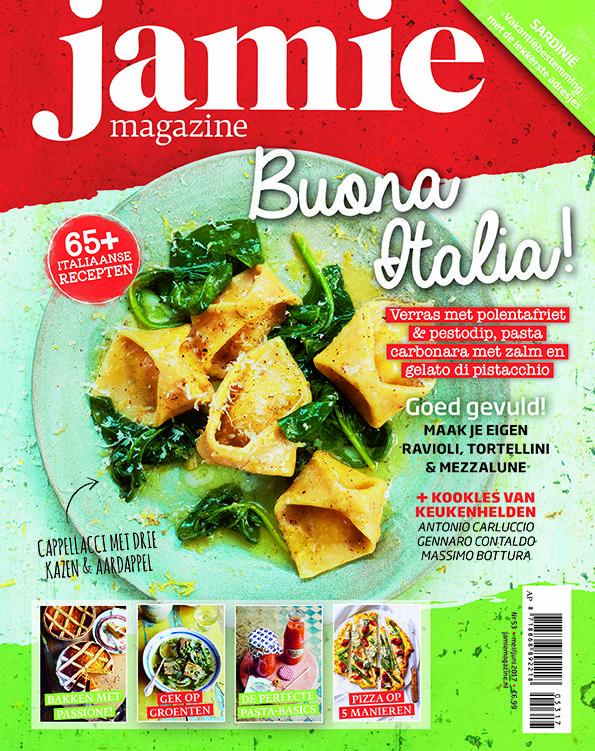 De nieuwste Jamie magazine staat volledig in het thema Italië, wat kunnen wij leren van la dolce vita? We maken de lekkerste zelfgemaakte pasta's en pizza's. Babbelen met Antonio Carluccio en Gennaro Contaldo en gaan op city trip naar Sardinië.   #italie #jamiemagazine #pasta #pizza