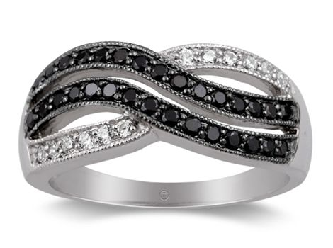 Gorgeous white gold dress ring with brilliant cut black and white diamonds weighing a total of .5 carats available #fromthomas in store or online www.thomasjewellers.com.au #thomasjewellers #ilovethomas