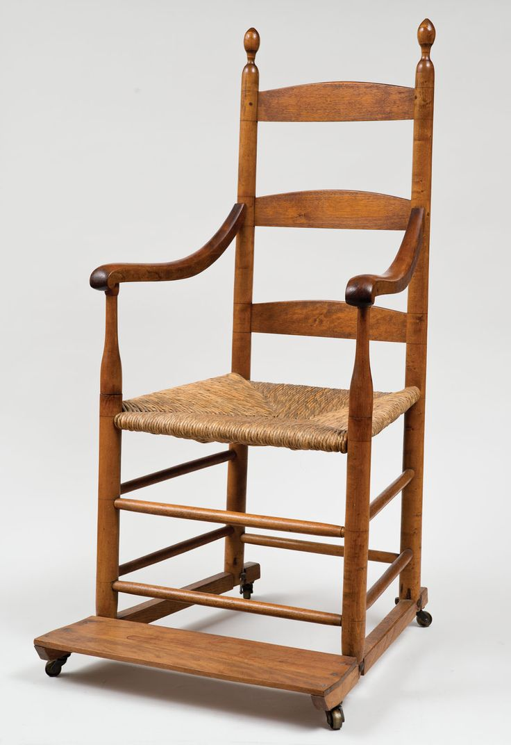 Antique shaker furniture - Lot 28 Rare Antique Shaker Invalid S Chair From Watervliet Or New Lebanon Ny