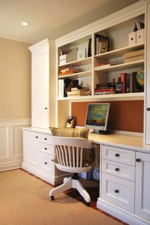 Maybe one day we can add some cabinets to the desk