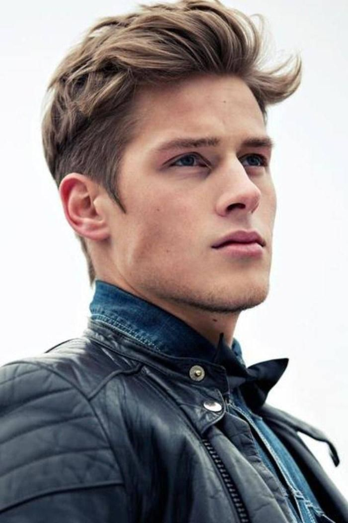 Short hair guy | Dirty blond | Square jaw | Romance hero | Character inspiration | Leather jacket