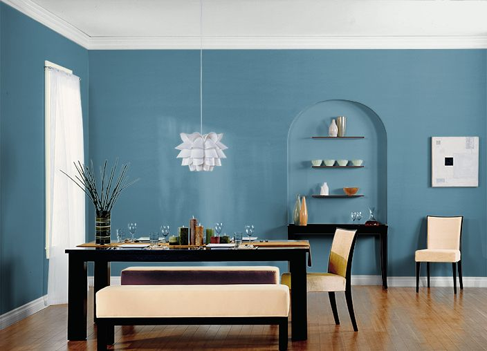 74 best paint colors for dining rooms images on pinterest for Blue jean paint color