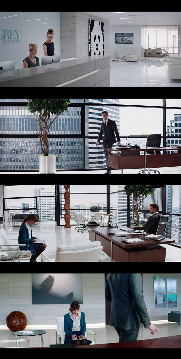 Christian Grey's office in Fifty shades of Grey.