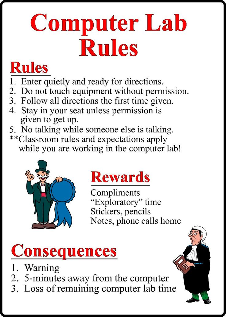 computer lab rules for students pdf - Google Search