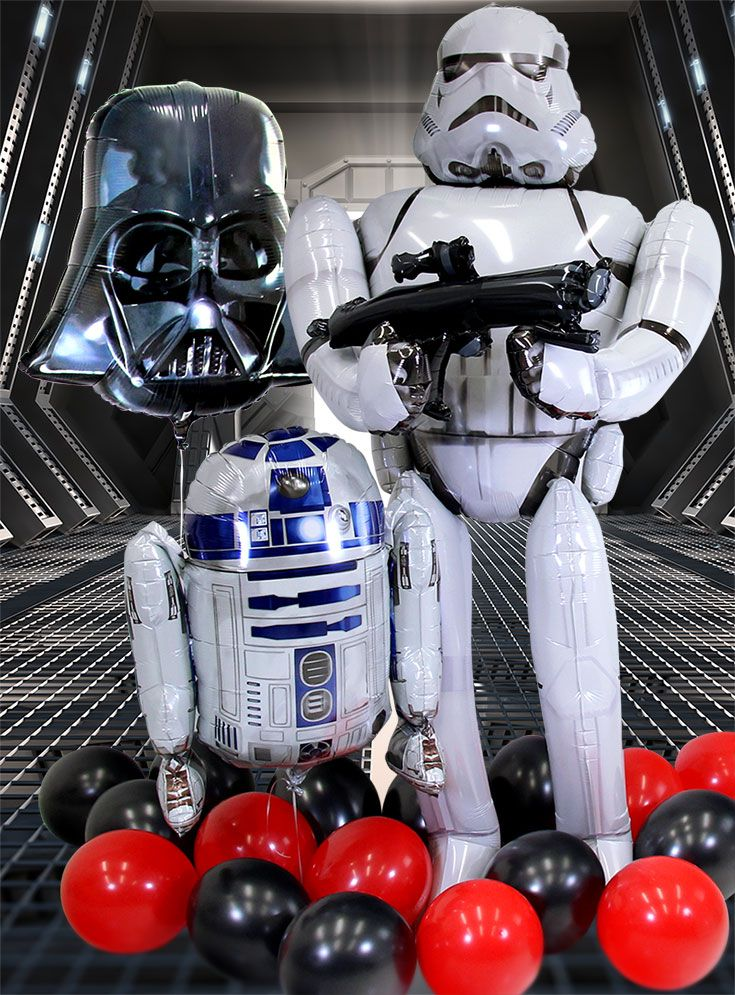 Complete your Star Wars party with this incredible lifesize storm trooper balloon! Pick it up along with lots of other Star Wars party supplies on Party Delights.