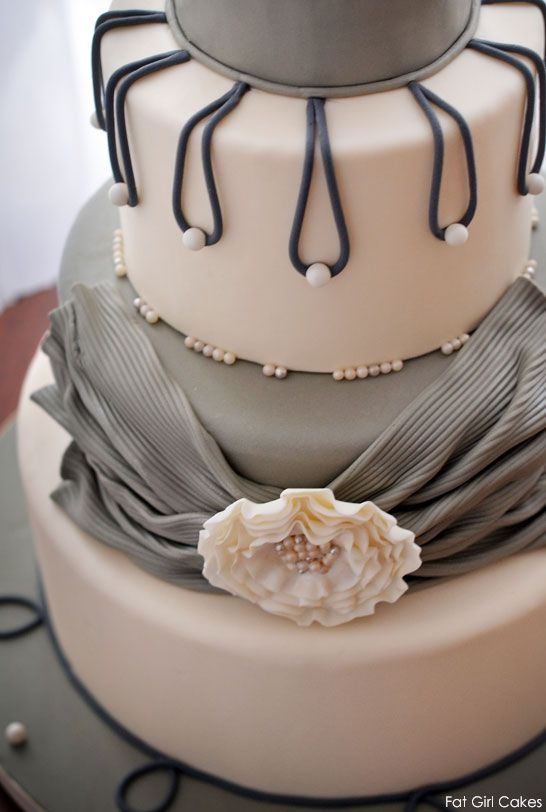 Shades Of Gray Wedding Cake Toppers