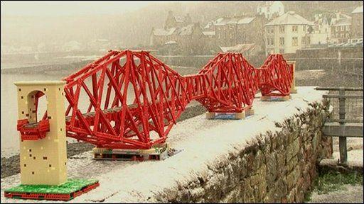 Lego Forth Railway Bridge