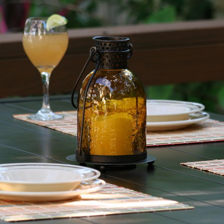 monaco glass led candle lantern amber real crackled glass is gorgeous when illuminated makes the perfect outdoor tablescape piece for al fresco dining - Outdoor Candle Lanterns