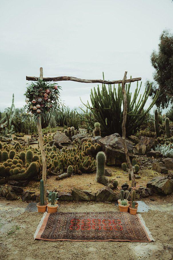 bohemian desert wedding
