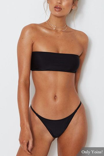 Black Sexy Off Shoulder Bodycon Fit Swimwear