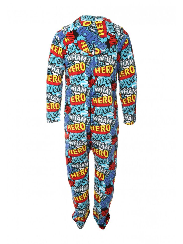 This men's fleece onesie is super cool! Featuring an all over action print, a hood and a zip up front, this fleecy onesie is great for keeping warm this seas...