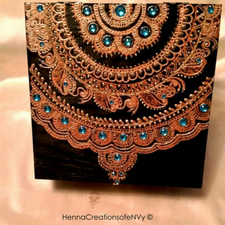 New! Mandala inspired jewelry box or keepsake box. Visit our shop for more at…