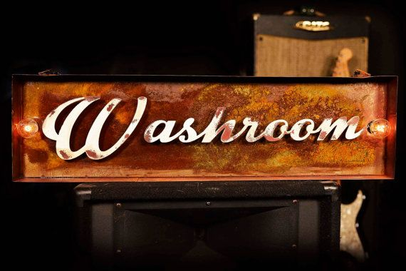 Marquee Letter, Lighted Metal MARQUEE SIGN, Marquee Light Fixture, Custom Marquee Sign, Restroom, Washroom Sign