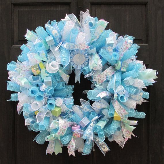 Baby Shower Wreath Instructions: 25+ Best Ideas About Baby Wreaths On Pinterest