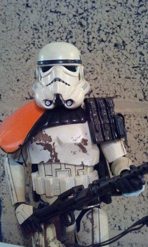 1/6 scale sideshow star wars sandtrooper w/marmit shoulder pad