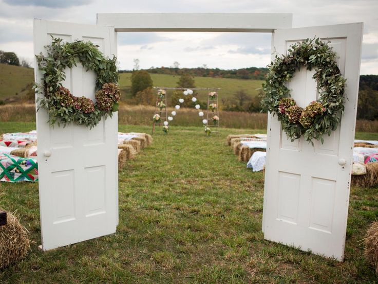 Outdoor Country Wedding Shower Ideas: 25+ Best Ideas About Outdoor Wedding Doors On Pinterest