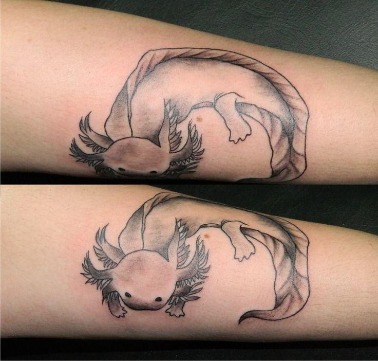 Pin By Mirza Ribic On Tattoo Ideas: Axolotl Tattoo