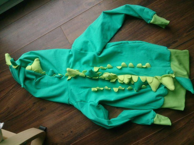 Nähen Krokodil Kostüm Fasching Karneval Verkleidung Tier Kind