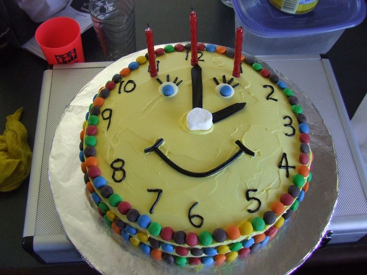 Clock Cake Cool Cakes Pinterest Clock Photos And