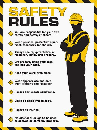10 rules for workplace electrical safety